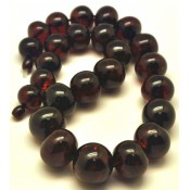 Baroque beads cherry Baltic amber short necklace 95 g.