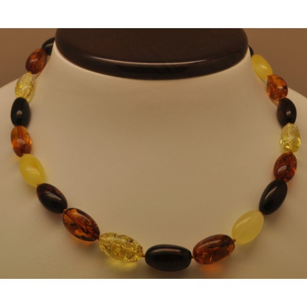 Olive Garden With Amberstone: Olive Shape Amber Necklace From Online Baltic Amber