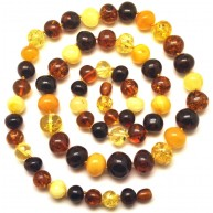 Baroque beads long Baltic amber necklace-AN2112