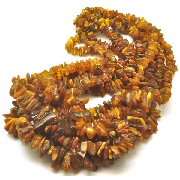 5 Real Antique Baltic amber necklaces -AN2192