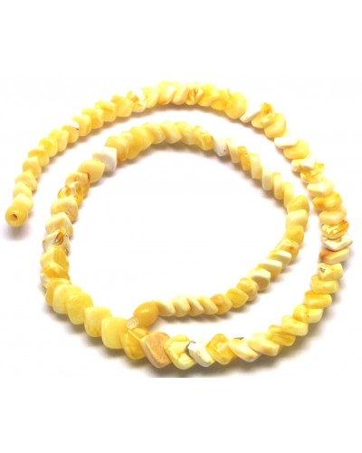Natural white tear drop Baltic amber necklace