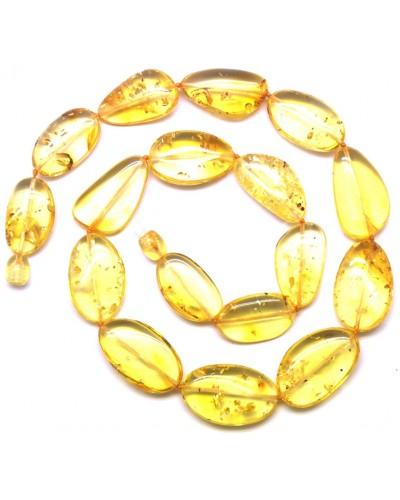 Big beads lemon Baltic amber short necklace
