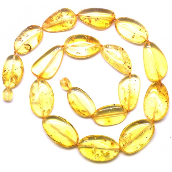 Amber necklaces | Big beads lemon Baltic amber short necklace