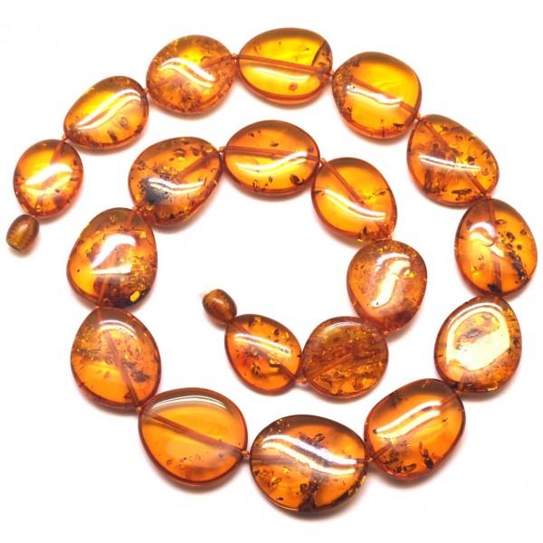 Big beads cognac Baltic amber necklace