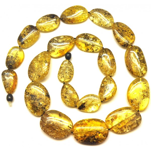 Amber necklaces | Big beads Baltic amber long necklace