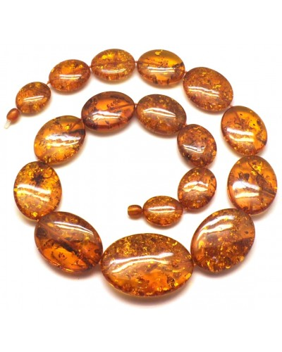 Massive long amber necklace