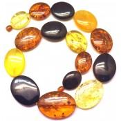 Massive multicolor amber necklace
