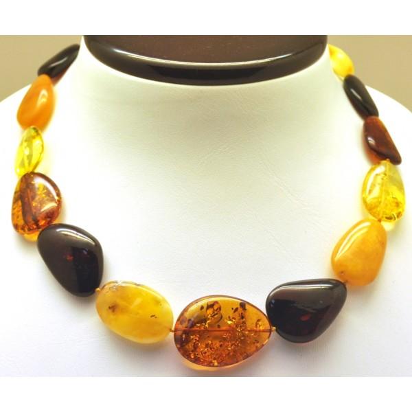 Big beads Baltic amber short necklace-AN2224