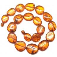 Big beads cognac Baltic amber necklace -AN2189