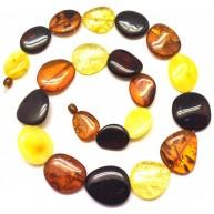 Big beads long amber necklace-AN2203