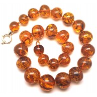 Cognac baroque beads Baltic amber necklace -AN2209