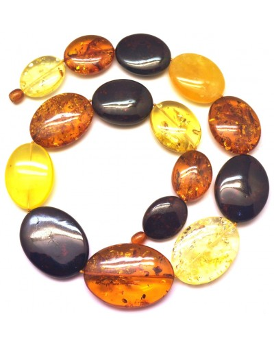Massive multicolor amber necklace