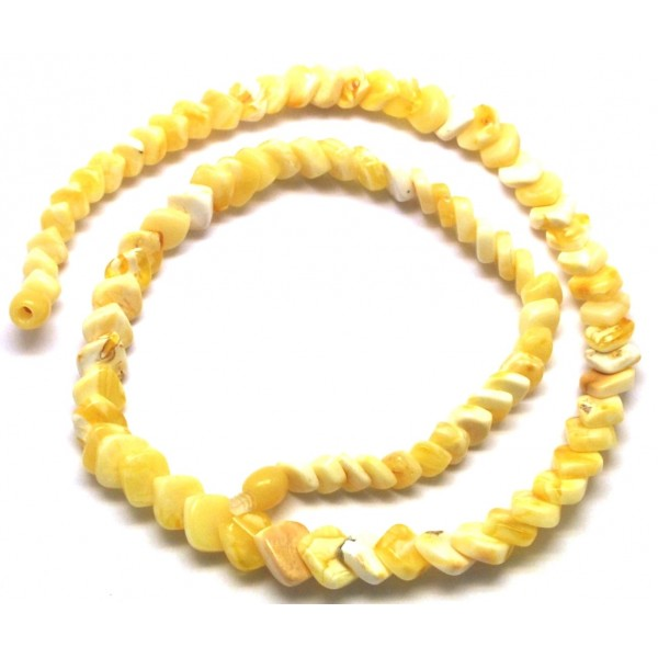 Natural white tear drop Baltic amber necklace-AN2183