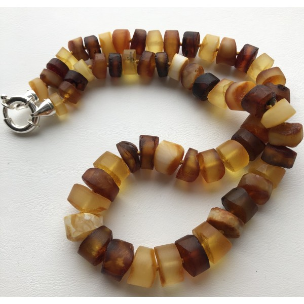 Raw amber necklace -AN2193
