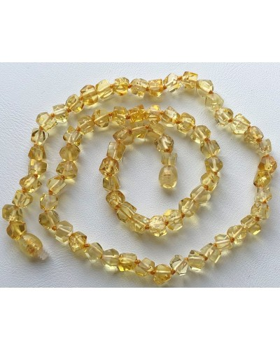 Short faceted amber necklace -AN2214