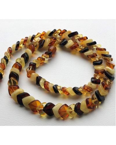 Tear drop Baltic amber necklace