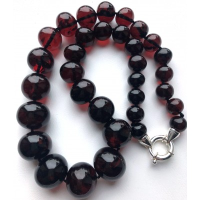 Baroque beads Baltic amber short necklace