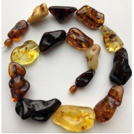 Natural shape amber necklace-AN2235