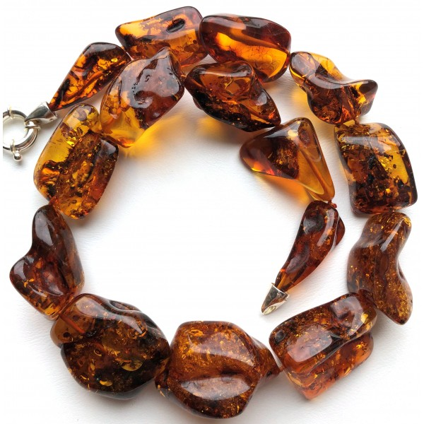 Natural shapes amber necklace-AN2246