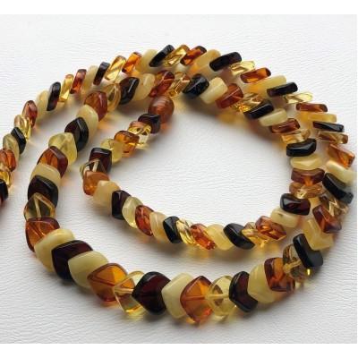 Tear drop Baltic amber necklace-AN2233