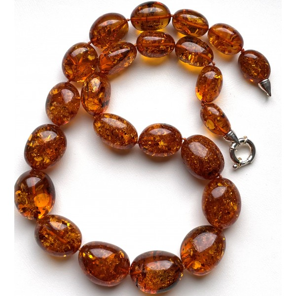 Big Baltic Amber Beads Necklace 109 g. -