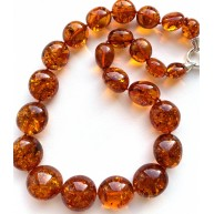 Big Baltic Amber Beads Necklace 77 g.