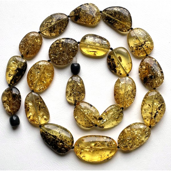 Big beads Baltic amber short necklace -