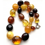 Massive Baltic Amber Beads Necklace 118 g