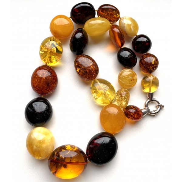 Massive Baltic Amber Beads Necklace 118 g -