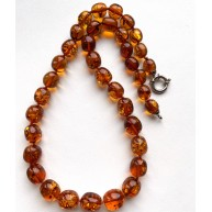 Olive Shape BALTIC AMBER Necklace 30g