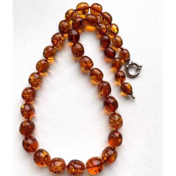 Olive Shape BALTIC AMBER Necklace 30g -