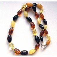 Olive Shape Beads Genuine BALTIC AMBER Necklace 50g