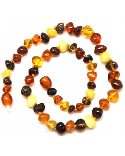 Baroque beads Baltic amber teething necklace