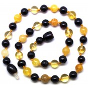 Round beads Baltic amber teething necklace