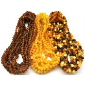 Lot of 30 raw baroque beads Baltic amber teething necklaces
