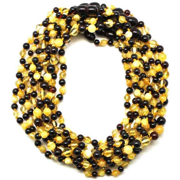 Lot of 10 Round beads Baltic amber teething necklaces-ATN581