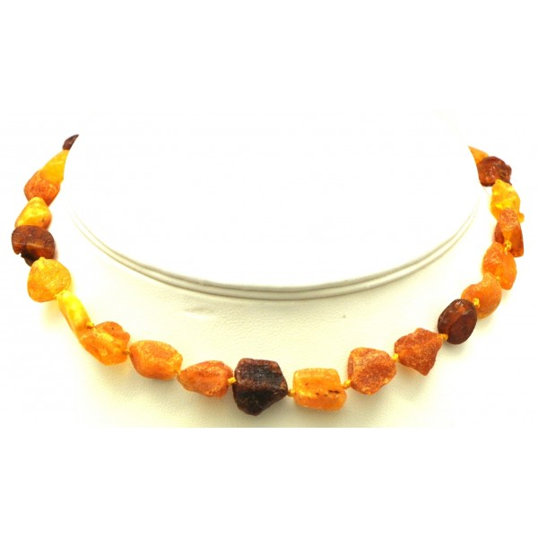 Raw Baltic amber teething necklace-ATN555