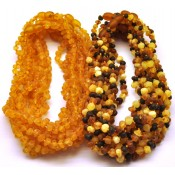 Lot of 20 raw baroque beads Baltic amber teething necklaces