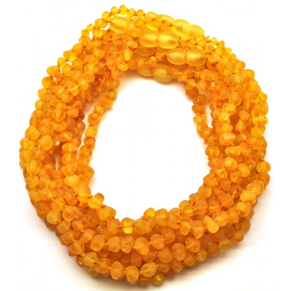 Amber teething necklaces | 10 Raw Baroque beads Baltic amber teething necklaces