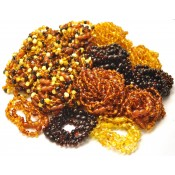 Lot of 200 Baroque beads Baltic amber teething bracelets
