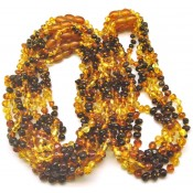 15 Multicolor baroque beads Baltic amber teething necklaces