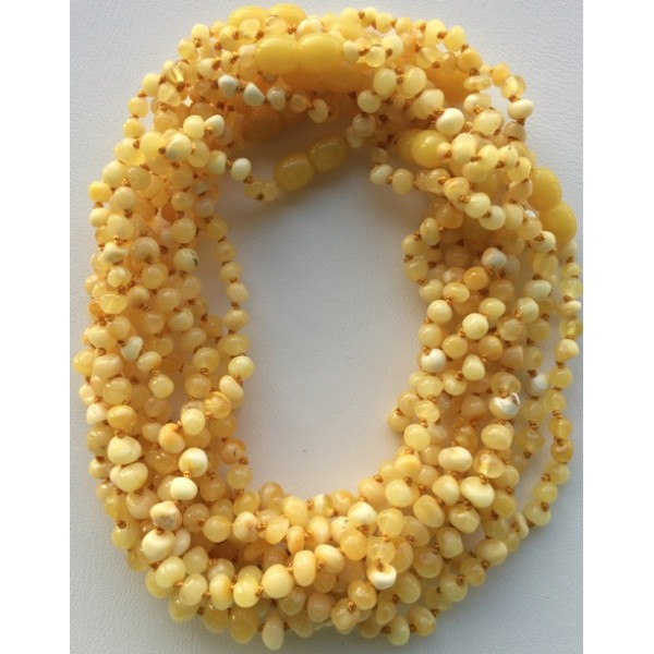 Amber teething necklaces | 10 Baroque beads Baltic amber teething necklaces