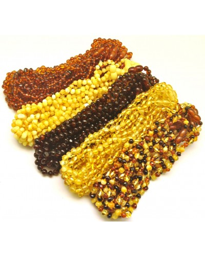 Lot of 50 Baroque beads Baltic amber teething necklaces