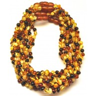 Lot of 10 Baby Children Genuine BALTIC AMBER Baroque Necklaces-ATN703