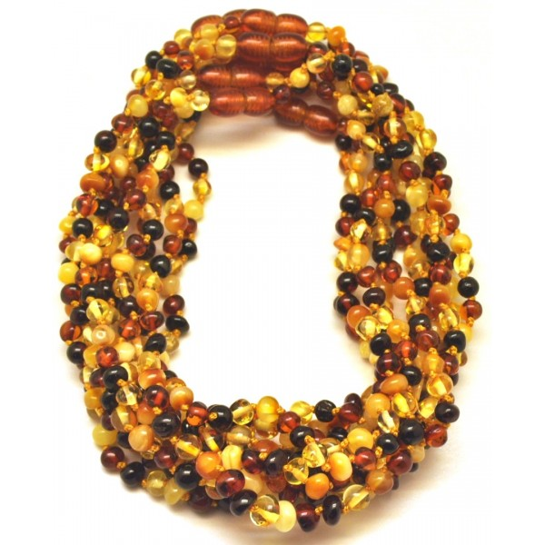 10 Multicolor baroque beads Baltic amber teething necklaces-ATN699