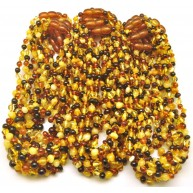 Lot of 30 baroque beads Baltic amber teething necklaces-ATN702