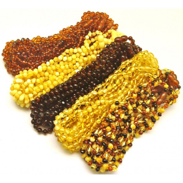 Lot of 50 Baroque beads Baltic amber teething necklaces-ATN679