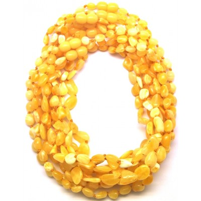 Lot of 10 natural beans shape Baltic amber teething necklaces-ATN697