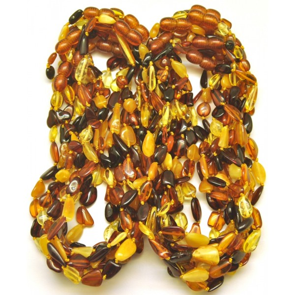 Lot of 20 beans amber teething necklaces-ATN696
