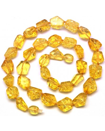 Faceted lemon Baltic amber necklace